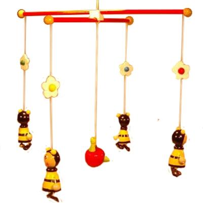 Mobile bij geel met appel