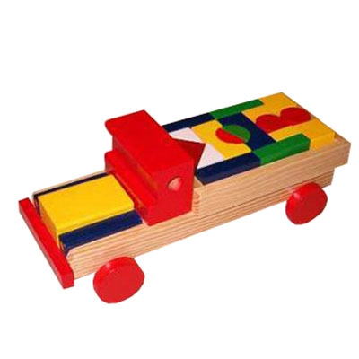 Blokkenauto kleur 00122