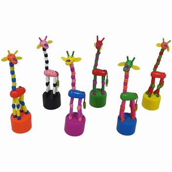 Drukpop giraffe; Hoogte: 17,5 CM
