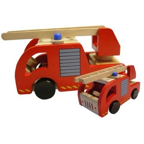 Brandweerauto met blanke ladder