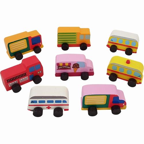 Autotjes klein; 8 assortie per set van 8