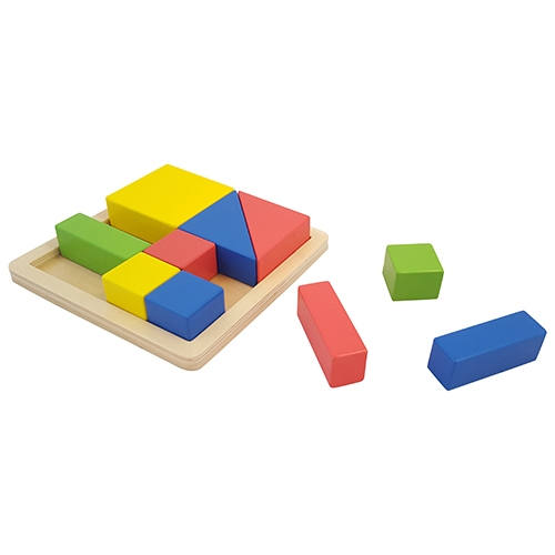 Blokken puzzel dik