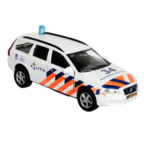 Die-cast Politie Volvo v70 Licht & Geluid; Pull Back 51.0628