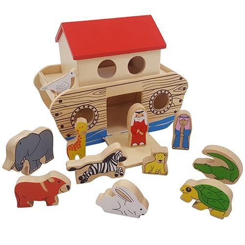 Ark van noach met loopklep; inclusief 9 dieren en 2 figuren
