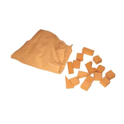 Blokken in linnen zak klein; 35 blokken