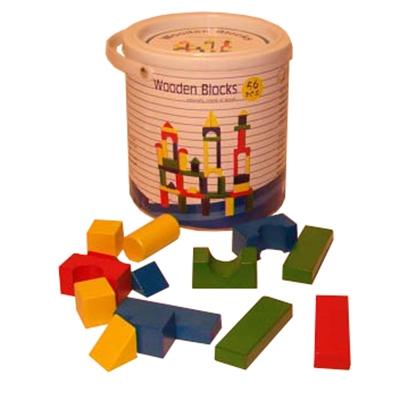 Blokkenton met 56 gekleurde blokken