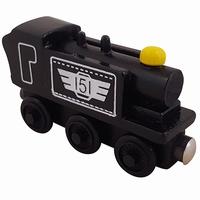 Stoom locomotief zwart nr