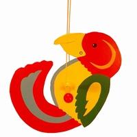 Draai papagaai groot gele snavel