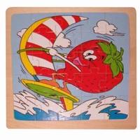 Legpuzzel aardbei met surfplank
