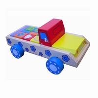 Blokkenauto pastel kleuren