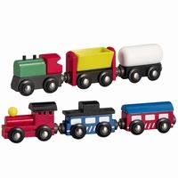 Trein 6-delig; met 2 locomotieven