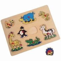 Puzzel wilde dieren plastic knop
