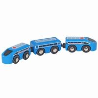 Sneltrein 3-delig blauw; Mentari 6653