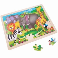 Legpuzzel wilde dieren olifant 48 stukjes