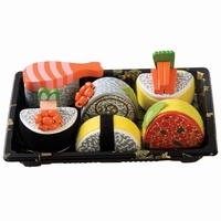 Sushi in tray