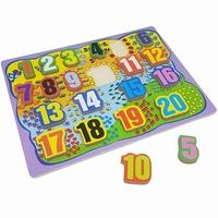 Puzzel cijfers 1-20 dikke stukken (1,2 CM)