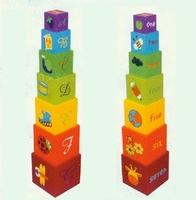 Bouwkubus cijfers kleur; 7-delig